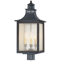 Monte Grande 3 Light 24 inch Slate Outdoor Post Lantern