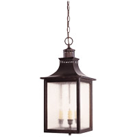 Monte Grande 3 Light 10 inch English Bronze Hanging Lantern Ceiling Light