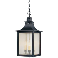 Savoy House Monte Grande 3 Light Outdoor Hanging Lantern in Slate 5-256-25