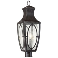 Shelton 2 Light 25 inch English Bronze with Gold Outdoor Post Lantern