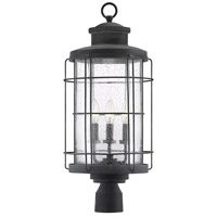 Fletcher 3 Light 25 inch Oxidized Black Outdoor Post Lantern