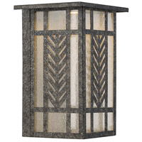 Waterton LED 8 inch Graphite Lantern Ceiling Light in Clear Seeded
