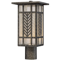 Waterton LED 8 inch Graphite Lantern Post Light in Clear Seeded