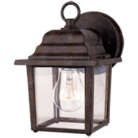 Exterior 1 Light 9 inch Rustic Bronze Outdoor Wall Lantern in Clear Beveled