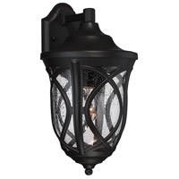 Highgate 1 Light 9 inch Black Outdoor Lantern in Clear Seeded