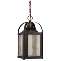 Formby LED 8 inch English Bronze/Gold Lantern Ceiling Light in Clear Seeded