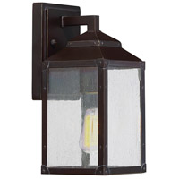 Brennan 1 Light 11 inch English Bronze with Gold Outdoor Wall Lantern