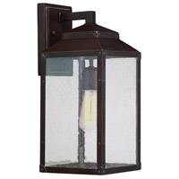 Brennan 1 Light 15 inch English Bronze with Gold Outdoor Wall Lantern