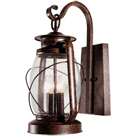 Smith Mountain 4 Light 21 inch New Tortoise Shell Outdoor Wall Lantern