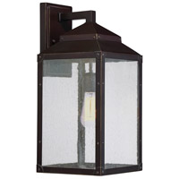 Brennan 1 Light 18 inch English Bronze with Gold Outdoor Wall Lantern
