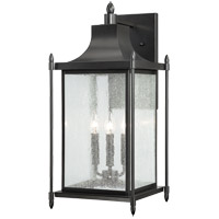 Dunnmore 3 Light 24 inch Black Outdoor Wall Lantern
