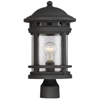 Upton 1 Light 17 inch Black Outdoor Post Lantern