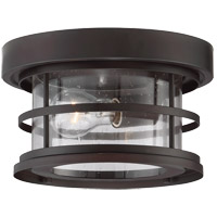 Barrett 1 Light 10 inch English Bronze Outdoor Flush Mount