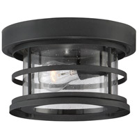Barrett 1 Light 10 inch Black Outdoor Flush Mount