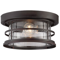 Barrett 2 Light 13 inch English Bronze Outdoor Flush Mount