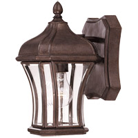 Realto 1 Light 11 inch Walnut Patina Outdoor Wall Lantern in Clear Beveled