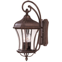Realto 3 Light 21 inch Walnut Patina Outdoor Wall Lantern in Clear Beveled