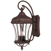 Realto 3 Light 26 inch Walnut Patina Outdoor Wall Lantern