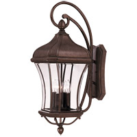 Realto 4 Light 32 inch Walnut Patina Outdoor Wall Lantern in Clear Beveled