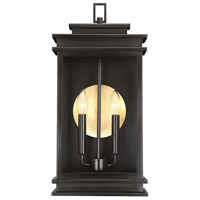 Reading 2 Light 20 inch English Bronze Outdoor Wall Lantern