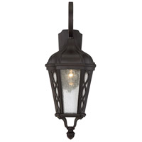 Hamilton 1 Light 25 inch English Bronze Outdoor Wall Lantern in Seeded