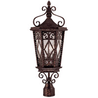 Felicity 3 Light 25 inch New Tortoise Shell Outdoor Post Lantern