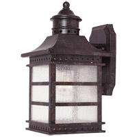 Seafarer 1 Light 13 inch Rustic Bronze Outdoor Wall Lantern in Pale Cream Textured