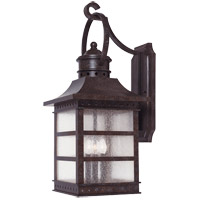 Seafarer 3 Light 21 inch Rustic Bronze Outdoor Wall Lantern
