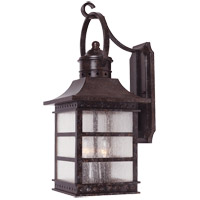 Savoy House Seafarer 3 Light Outdoor Wall Lantern in Rustic Bronze 5-442-72