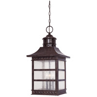 Savoy House Seafarer 3 Light Outdoor Hanging Lantern in Rustic Bronze 5-445-72