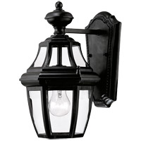Savoy House Endorado 1 Light Outdoor Wall Lantern in Black 5-490-BK