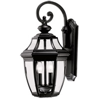 Endorado 2 Light 20 inch Black Outdoor Wall Lantern