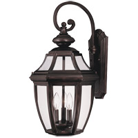 Endorado 3 Light 25 inch English Bronze Outdoor Wall Lantern