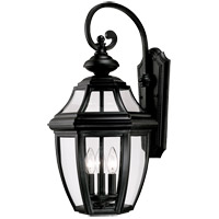 Endorado 3 Light 25 inch Black Outdoor Wall Lantern