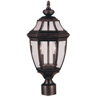Endorado 2 Light 17 inch English Bronze Outdoor Post Lantern