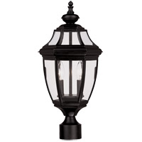 Endorado 2 Light 17 inch Black Outdoor Post Lantern