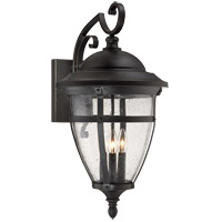 Dillon 3 Light 25 inch English Bronze with Gold Outdoor Wall Lantern