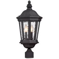 Hampden 2 Light 15 inch Black Outdoor Post Lantern