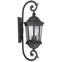Hampden 3 Light 37 inch Black Outdoor Wall Lantern