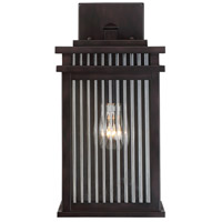 Radford 1 Light 14 inch English Bronze Outdoor Wall Lantern in Clear Ribbed