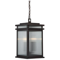 Radford 2 Light 9 inch English Bronze Hanging Lantern Ceiling Light in Clear Ribbed