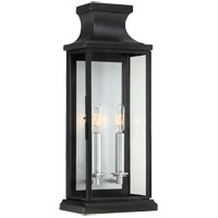 Brooke 2 Light 20 inch Black Outdoor Wall Lantern