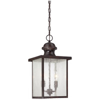 Newberry 2 Light 9 inch English Bronze Outdoor Hanging Lantern in Seeded