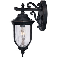 Castlemain 1 Light 16 inch Black with Gold Outdoor Wall Lantern in Como Black