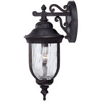 Castlemain 1 Light 20 inch Black with Gold Outdoor Wall Lantern in Como Black