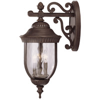 Castlemain 3 Light 23 inch Walnut Patina Outdoor Wall Lantern