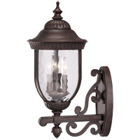 Savoy House Castlemain 3 Light Outdoor Wall Lantern in Walnut Patina 5-60324-40 photo thumbnail