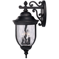 Savoy House Castlemain 4 Light Outdoor Wall Lantern in Black w/ Gold 5-60325-186