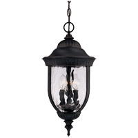 Castlemain 3 Light 10 inch Black with Gold Outdoor Hanging Lantern in Como Black