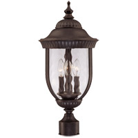 Castlemain 3 Light 22 inch Walnut Patina Outdoor Post Lantern
